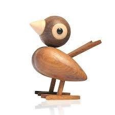 Bird in teak