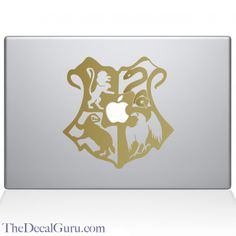 hogwart's crest macbook decal