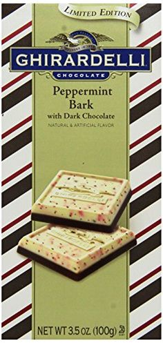 Ghirardelli Peppermint Bark with Dark Chocolate Bar 3.5 oz. 4 Count