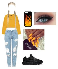 """""""Untitled #85"""" by bossii ❤ liked on Polyvore featuring Topshop and NIKE"""