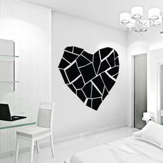 Abstract Broken Heart Wall Decal #wallums