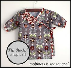 Rachel wrap shirt tutorial: part 1 pattern and pieces from Craftiness is not Optional