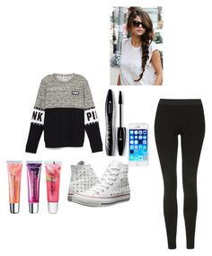 """""""Untitled #279"""" by parislovengirl1 ❤ liked on Polyvore featuring Topshop, Converse, Lancôme, Maybelline, women's clothing, women's fashion, women, female, woman and misses"""