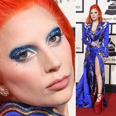 Grammy Awards Maquiagem Make Up Red Carpet Tapete Vermelho Lady Gaga David Bowie