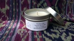 Wedding Cake Scented Soy Wax Candle by WillowGroveCandles on Etsy