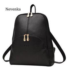e315e118a0 Nevenka Women Backpack Leather Backpacks Softback Bags Brand Name Bag  Preppy Style Bag Casual Backpacks Teenagers
