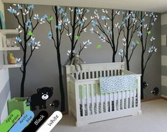 tree wall decal on sale at reasonable prices, buy Large Trees Wall Decals With Leaves Birds Bear and Hedgehogs Russian Forest Wall Stickers For Kids Room Baby Nursery Mural from mobile site on Aliexpress Now! Cute Baby Boy, Baby Boys, Nursery Stickers, Nursery Wall Decals, Wall Stickers, Bird Wall Decals, Tree Decals, Baby Nursery Decor, Nursery Trees