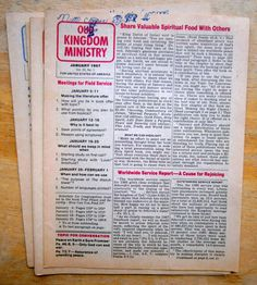 Lot of 9 Our Kingdom Ministy 1987 IBSA Watchtower N H Knorr Jehovah's Witness