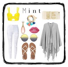 """""""Mint"""" by lakeishajean on Polyvore featuring Joseph, Billabong, Matthew Williamson, Sonix, Christian Dior and Lime Crime"""