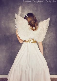 Scattered Thoughts of a Crafty Mom: DIY Angel Costume (plus tutorial and pattern)
