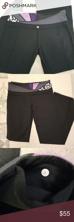 Lululemon Workout Leggings Lululemon bootcut workout pants. Cute waistband with inner pocket. Size eight, great used condition. lululemon athletica Pants