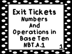 These exit tickets can be used to do a quick assessment for the Numbers and Operations Base Ten standards in Kindergarten. You can use the exit tickets on the Smartboard or the Promethean Board. The exit tickets can also be printed to be used on the ELMO or as paper exit tickets.There are printable exit ticket cards included in the packet that I use in my classroom.