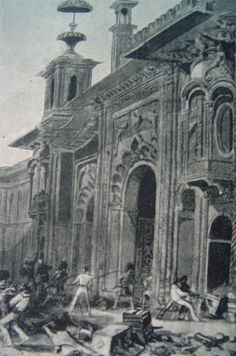 PLUNDER OF KAISARBAGH, LUCKNOW, MARCH 1858\  Source: H. Gilbert, The Story of the Indian Mutiny, 1916