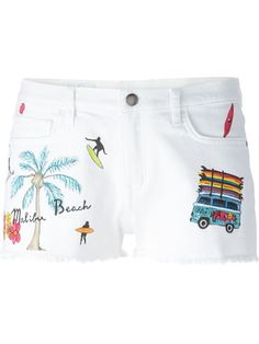 Ç By Mira Mikati Embroidered Denim Shorts - Smets - Farfetch.com