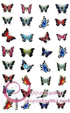 tiny butterfly tattoos | ... colorful children's tattoos small butterfly tattoo stickers[WST14010