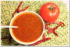 Makes 2 cups of salsa 1 Large sized tomato 4 medium sized tomatillos or 6 small ones * 2 garlic cloves, unpeeled 1/3 of a medium white onion ** 15 Dry Arbol Peppers *** Salt to taste