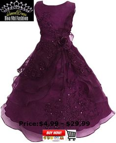 665cddcc61f Shiny Toddler Little Big Girls Embroidered Beaded Flower Girl Flower Girl  Birthday Party Daddy-Daught Dress with Petticoat - Flowers Girls Dress