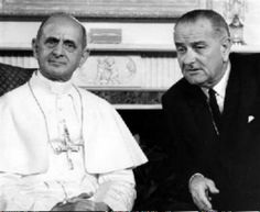 First visit of a pope to the United States: Pope Paul VI met with President Lyndon B. Johnson on October 4, 1965 #CatholicTBT