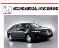 Servicio Honda Accord 2008-2013 Manual De Reparación Taller y Mecanica