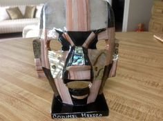 Cozumel Mexico Mother of Pearl Mask Figurine