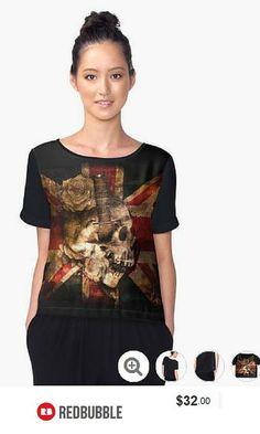 'Skull Flag' Chiffon Top #artbyarte