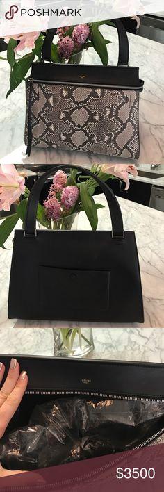 NWT Python Celine satchel New never worn dark python Celine satchel Celine  Bags Satchels 738fc19844adc