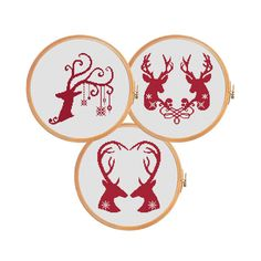 All 3 patterns! Grid Size: x Design Area: x x 84 stitches) Number of colors: 1 Cross stitch pattern DEERS TOGETHER. Grid Size: x Design Area: x x 96 stitches) Number of colors: 2 Cross stitch pattern DEERS & LOVE. Counted Cross Stitch Patterns, Cross Stitch Embroidery, Christmas Cross, Merry Christmas, Christmas Deer, Christmas Embroidery Patterns, Xmax, Reno, Modern Cross Stitch