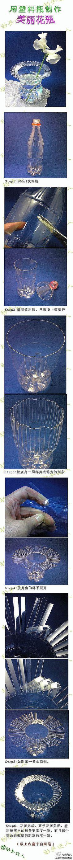 The handmade DIY] vase or cup from a soda pop plastic bottle.  http://www.digu.com/pin/tnypokbwtqxpn