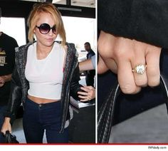 Miley Cyrus -- Rockin' Her Diamond Engagement Ring!
