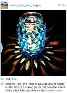 Diy mason jar candle idea