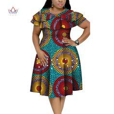 New Bazin Riche African Ruffles Collar Dresses for Women Dashiki Print Pearls Dresses Vestidos Women African Clothing WY4401| | - AliExpress