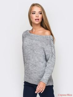 VK is the largest European social network with more than 100 million active users. Crochet Blouse, Knit Crochet, Girl Fashion, Fashion Looks, Womens Fashion, Pullover Mode, Sweater Knitting Patterns, Sweater Fashion, Pulls