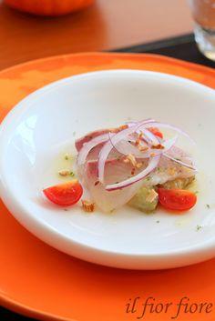 Pesce crudo con melanzane grigila 焼きナスと鰆のカルパッチョ
