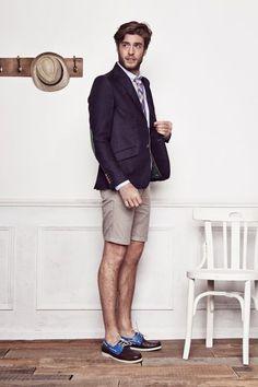 shorts and blaser
