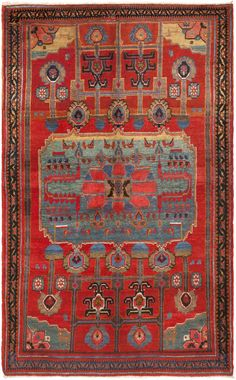 Antique Kurdish Bidjar carpet, Persia, ca. 1900.