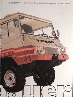 FINN – Steyr Puch Haflinger og Pinzgauer 3 brosjyrer Bus Engine, Vw T3 Syncro, Steyr, Expedition Vehicle, Jeep Truck, Motorcycle Bike, Campervan, Concept Cars, Cars And Motorcycles
