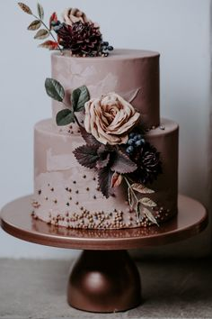 Trendy Wedding Colors 2019 ★ See more: www.weddingforwar… Trendy Wedding Colors 2019 ★ Weitere Informationen: www. Blush Pink Wedding Cake, Floral Wedding Cakes, Fall Wedding Cakes, Wedding Cake Designs, Wedding Cupcakes, Fruit Wedding, Spring Wedding, Pretty Cakes, Beautiful Cakes