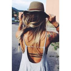 Flowy dress & strappy bandeau [