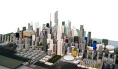 Futuristic City Lego Microscale Experiment by lgorlando