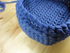 Teje una caja u organizador - Paperblog Cotton Cord, Merino Wool Blanket, Basket, Mini, Crocheting, Wooden Crafts, Contouring, Farmhouse Rugs, Paper