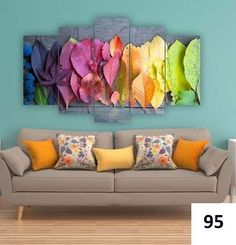 Accent a bare wall with this eye-catching artwork boasting vibrant hues and an intriguing five-panel design. Includes two panels, two panels and one panelSmall: W x H x DMedium: W x H x DLarge: W x H x DMedium-density fiberboardReady to hangMade in Turkey Panel Wall Art, My New Room, Oeuvre D'art, Decoration, Bunt, Diy Home Decor, Home Goods, Sweet Home, Pastel