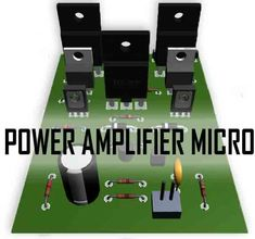 This power circuit is capable of up to 75V DC symmetrical, Where this micro power amplifier can produce incredible power up to 1000W if properly coupled and using a good power supply is minimal to big power out, the current intended for this power is 20Ampere.