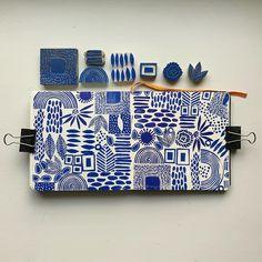 Art Textile, Textile Prints, Textile Design, Stamp Printing, Screen Printing, Printing On Fabric, Handmade Stamps, Handmade Books, Lino Art