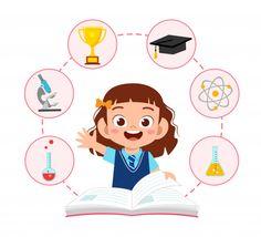 Kids Cartoon Characters, Cartoon Kids, Dream Drawing, School Suplies, School Images, Kids Background, School Clipart, Little Free Libraries, Kids Study