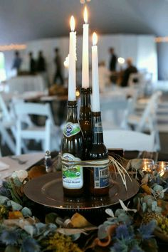 Oktoberfest 2016 - tradition and present lead to the biggest beer festival . - Oktoberfest 2016 – tradition and present lead to the biggest beer festival … – birthday – # - Oktoberfest Party, Beer Bottle Centerpieces, Candle Centerpieces, Masculine Centerpieces, Floral Centerpieces, Birthday Centerpieces, Centerpiece Decorations, Wedding Centerpieces, 50th Birthday Party