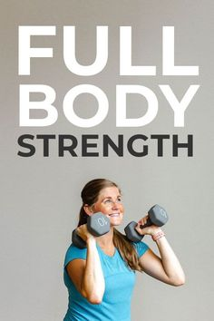 7 free weight exercises for women in a 45 minute pyramid workout! A full body dumbbell workout for strength   endurance. Burn 400  calories. Compound Dumbbell Exercises, Dumbbell Exercises For Women, Full Body Dumbbell Workout, Weight Exercises, Easy Workouts, At Home Workouts, Intense Home Workout, Pregnancy Workout, Fit Pregnancy