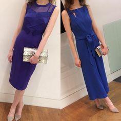 f9301084f99 Karen Millen Blue Crepe Slim Belt Party Cruise Culotte Jumpsuit Dress 8 36  PA086  Bloggerstyle