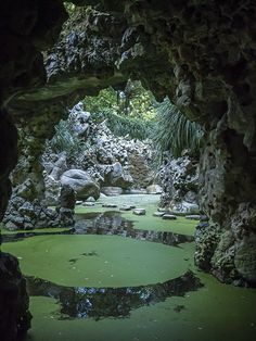 Lake of the Waterfall, Quinta da Regaleira, Sintra, Portugal (click through for more)