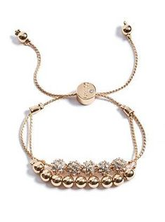 Brilla Gold-Tone Slider Bracelet | shop.GUESS.com
