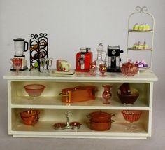 Miniature Furniture, Dollhouse Furniture, Dollhouse Miniatures, Liquor Cabinet, Scale, Artisan, Handmade, Home Decor, Weighing Scale
